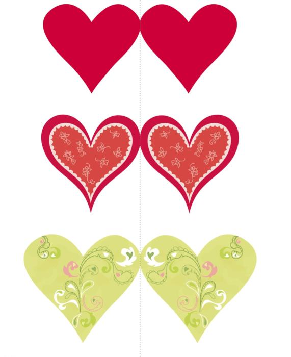 Валентинки распечатать открытки