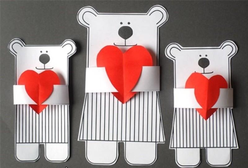 Очень, открытка валентинка своими руками для дошкольников