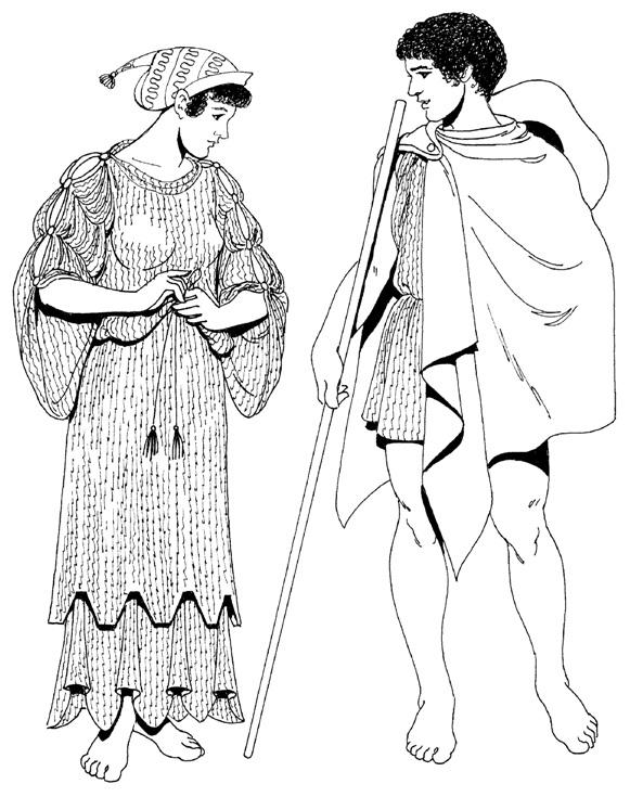 одежда древнего греции в картинках то