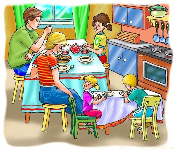 Сюжетная картинка как мы обедаем