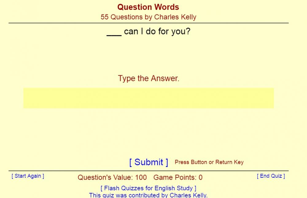 Question Words - Английский язык