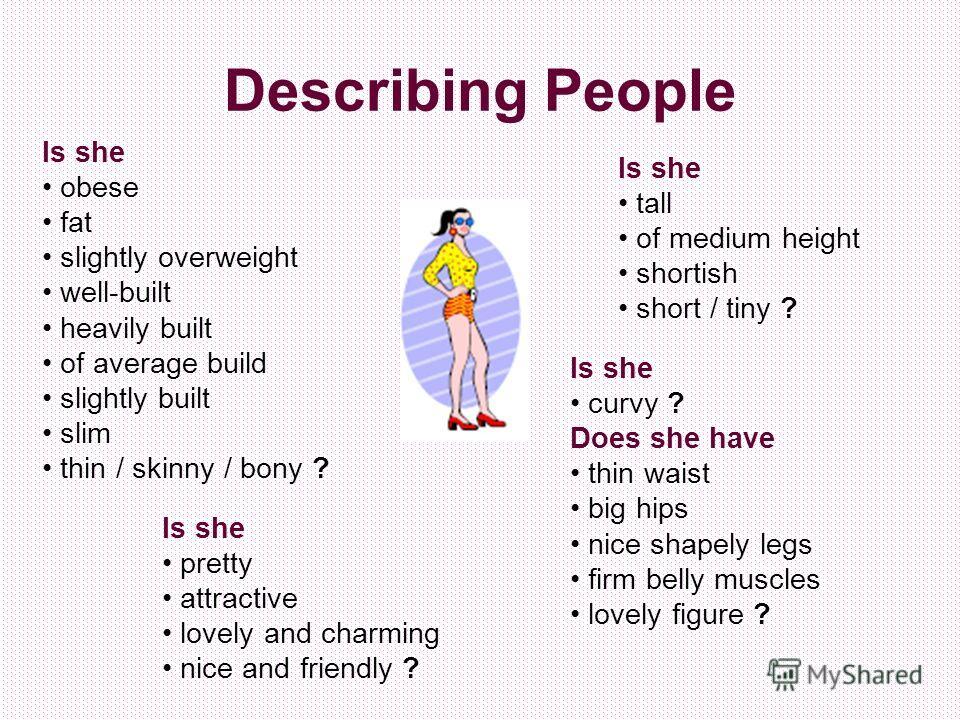 descriptive person