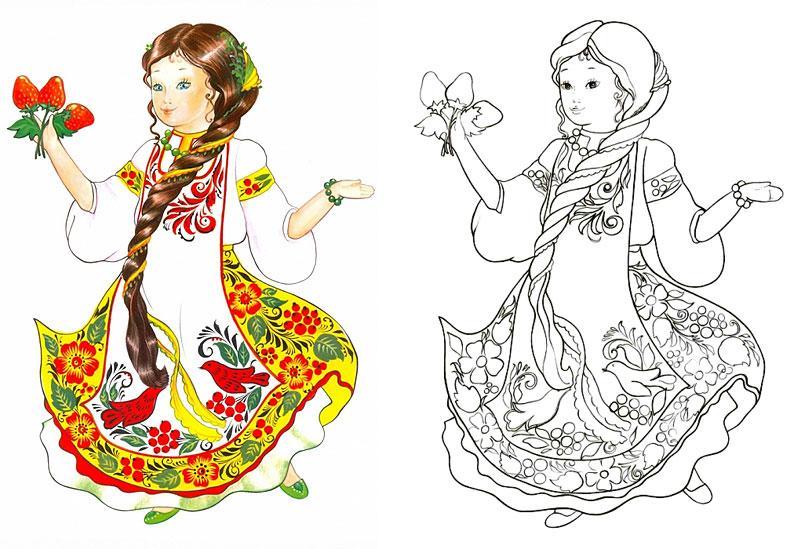 распечатать красивые раскраски для девочек