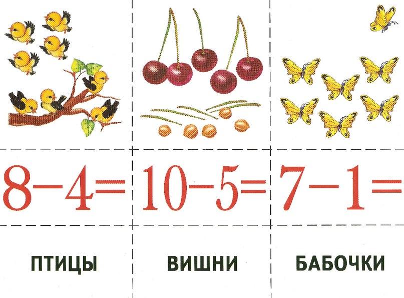 Картинка карточки по математике для дошкольников