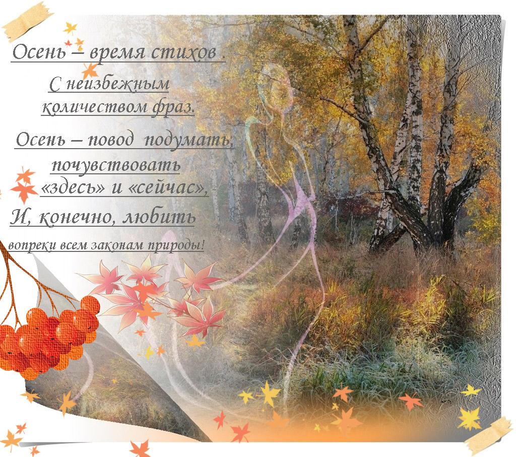 Стихи красивые про осень, днем