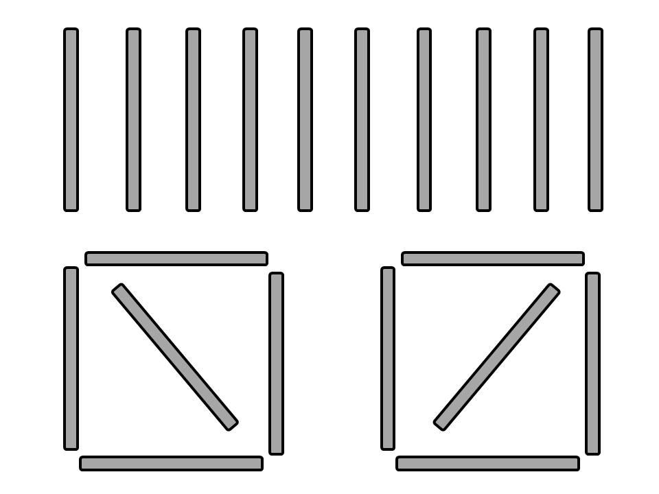 Рисунки из счетных палочек распечатать